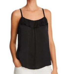 Beltaine Washed Satin Ruffled Camisole Top